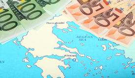 Europe helps Greece Stock Image