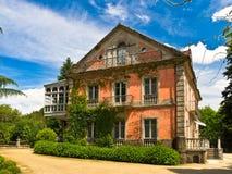 Europe house in Santiago de Compostela. In Galicia Stock Photo