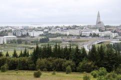 Europe,Iceland-Reykjavik. View of Reykjavik from the top of Perlan Stock Photos