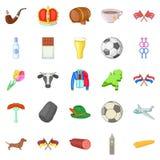 Europe icons set, cartoon style Stock Images