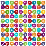 100 Europe icons set color. 100 Europe icons set in different colors circle isolated vector illustration royalty free illustration