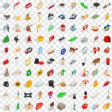 100 europe icons set, isometric 3d style. 100 europe icons set in isometric 3d style for any design vector illustration Royalty Free Stock Photography