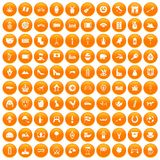 100 Europe icons set orange. 100 Europe icons set in orange circle isolated on white vector illustration vector illustration