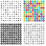100 Europe icons set variant. 100 Europe icons set in 4 variant for any web design isolated on white vector illustration