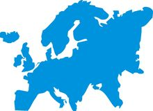 Europe Illustration Royalty Free Stock Image