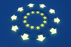 Europe industry and European Union economy concept Royalty Free Stock Image