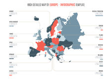 Europe infographic map royalty free illustration