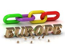 EUROPE- inscription of bright letters and color chain Stock Photo