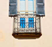In europe italy milan old architecture and venetian blind wall Royalty Free Stock Photo