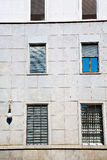 In europe italy milan old   blind wall Stock Photography