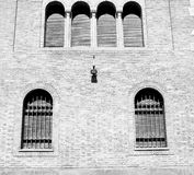 In europe italy  old architecture and venetian blind wall Stock Photography