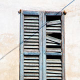 In europe italy  old architecture and venetian blind wall Stock Images