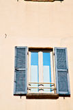 In europe italy  and venetian blind wall Stock Images
