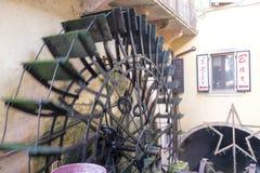 Italy, verona, borghetto sul mincio, wheel of a watermill. Europe, italy, veneto, verona, borghetto sul mincio, detail of the wheel of a watermill Royalty Free Stock Images