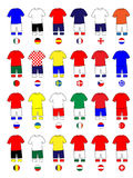 Europe Jerseys Football Kits Stock Photography