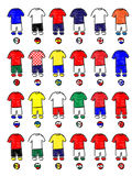 Europe Jerseys Football Pencil Style Royalty Free Stock Images