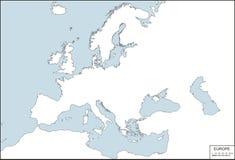 europe konturowa mapa ilustracji