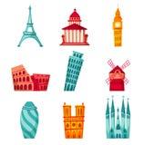 Europe landmark set Stock Image