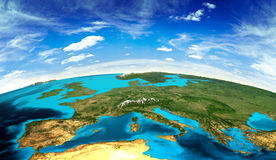 Europe landscape from space Royalty Free Stock Photos