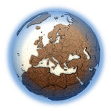 Europe on light Earth Stock Images