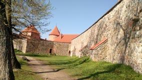 Europe Lithuania Trakai Castle wall royalty free stock photography