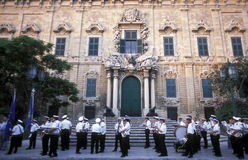 EUROPE MALTA VALLETTA. The Auberge de Castile in the old Town of Valletta on Malta in Europe Royalty Free Stock Photography