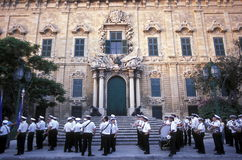 EUROPE MALTA VALLETTA. The Auberge de Castile in the old Town of Valletta on Malta in Europe Royalty Free Stock Photo