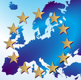 europe map Royalty Free Stock Images