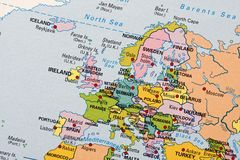 Europe map Stock Photography