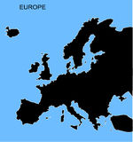 Europe map Stock Photo