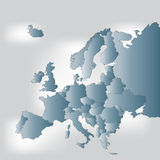 Europe map Royalty Free Stock Photos