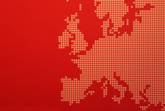Europe map. Graphic representation of Europe - a stylised European map in light red colors Stock Image
