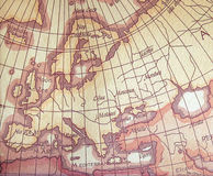 Europe Map. Antique Style Stock Photography