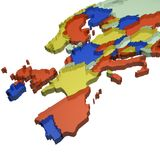 Europe map. West europe map Royalty Free Stock Photos