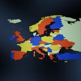 Europe map Stock Image