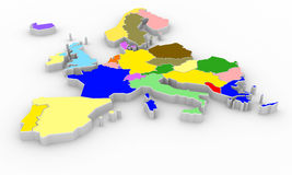 Europe map Royalty Free Stock Photography