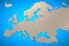 Europe Map Background Royalty Free Stock Images