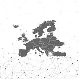 Europe map background vector, illustration for Royalty Free Stock Photography