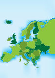 Europe map with blue sea Royalty Free Stock Images