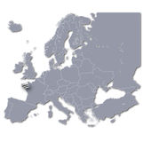 Europe map with Brittany Stock Photo