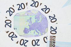 Europe map with euros Stock Photography