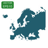 Europe map icon. Business cartography concept Europe pictogram. Vector illustration on white background Royalty Free Stock Images