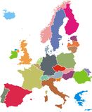 Europe map Royalty Free Stock Photos