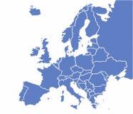 Europe map Royalty Free Stock Image