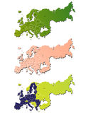 Europe map. A set of europe map icons Stock Image