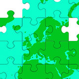 Europe Map Shows Kingdom Politics Stock Image