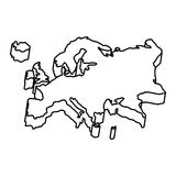 Europe map silhouette icon Stock Images