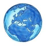 Europe Map Sketch Drawing Stock Image