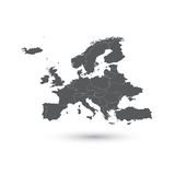 Europe map vector illustration Stock Photos