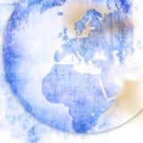 Europe map-vintage artwork Stock Image